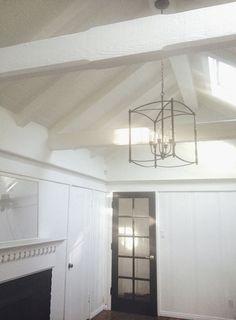 painted black beams on ceilings | EXPOSED WOOD BEAMS AND WHITE PAINTED CEILINGS