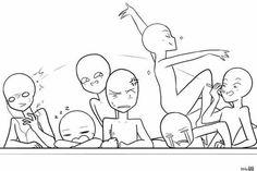 Draw the Squad-School by on DeviantArt Oc Drawings, Funny Drawings, Drawing Meme, Drawing Sketches, Drawing Reference Poses, Drawing Poses, Drawing Tips, Funny Poses, Draw The Squad
