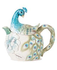 Just look at the charming Peacock Teapot. Description from www1.macys.com. I searched for this on bing.com/images