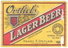 Vintage Beer Label