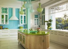 maui beach house - tropical - kitchen - hawaii - heffel balagno