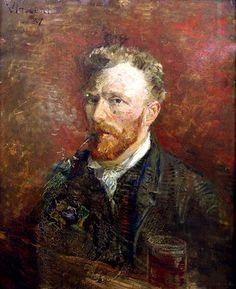Van Gogh self-portrait,  ( art maniac blog, bmc,)