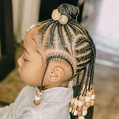 Little Girl Braid Hairstyles, Toddler Braided Hairstyles, Toddler Braids, Childrens Hairstyles, Black Kids Hairstyles, Little Girl Braids, Baby Girl Hairstyles, Natural Hairstyles For Kids, Braids For Kids