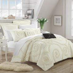 Rosamond 11 Piece Comforter Set by Chic Home Beige - CS2240-BIB-HE