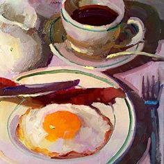 Diner by Dennis Perrin in the FASO Daily Art Show