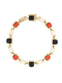 Cartier Coral and Onyx Link Bracelet