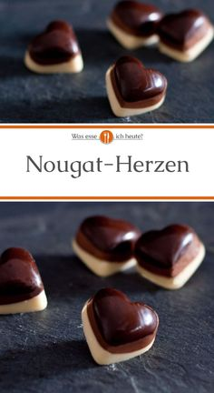 Delicious Nougat Heart Recipe- What Do I Eat Today?- Leckeres Nougat-Herzen Rezept- Was esse ich Heute? Our nougat hearts are a nice gift for … - Cooking With Kids, Fun Cooking, Cooking Tips, Cooking Recipes, Cooking Quotes, Cooking Photography, Valentines Day Food, Le Diner, Candy Recipes