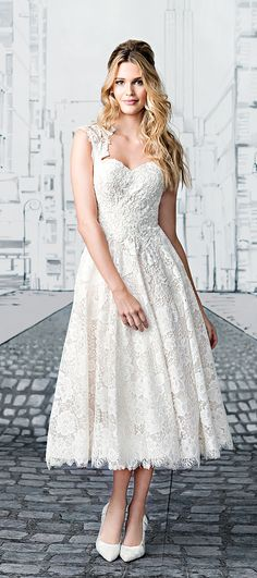 Short Tea Length Wedding Dress 2017 Justin Alexander