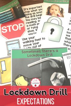 This lockdown drill rules and expectations resource is full of posters and materials to accompany the teaching of your school's PBIS rules. I like to use these materials from the very first day of school to teach my students the right way to follow our lockdown drill safety procedure. From moving out of sight, to staying calm, these materials are sure to teach your students how to be safe during a lockdown drill!