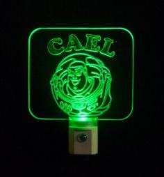 Personalized Buzz Lightyear Toy Story Inspired LED Night Light,