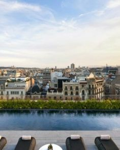 You'll get a bird's eye view of the Barcelona skyline from the rooftop splash pool at the Mandarin Oriental. #JSEames