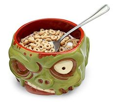 zombie head cereal bowl