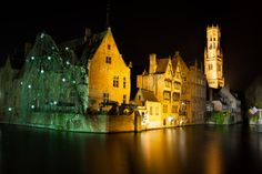venice of the north, Bruges Bruges, Cologne, Venice, Cathedral, Building, Travel, Pictures, Night, Viajes