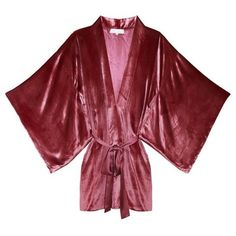 Fleur du Mal Velvet Haori Kimono ($595) ❤ liked on Polyvore featuring intimates, robes, peony, lined robe, velvet kimono robe, dressing gown, bath robes and velvet kimono