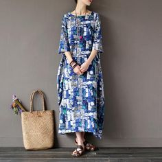 Cotton/Linen Vintage Loose Robe
