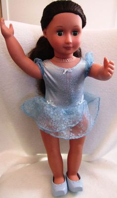 """Battat 18"""" Doll with Green Eyes & Brown Hair w/ Ballet Outfit #DollswithClothingAccessories"""