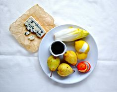 Port Poached Pears, Belgian Endive & Blue Cheese Salad. Try Salemville® Blue Cheese in this Recipe.