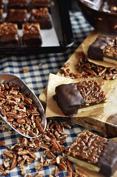 Chocolate-Dipped Pecan Bars