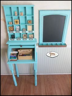 Bread Box Turned Craft Desk/Station - Patina Paradise