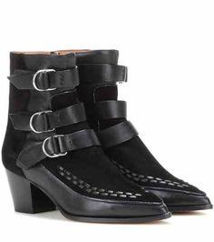 Ausgefallene Damen Stiefel mit Plateaus und Ziernieten ohne Absätzen in Schwarz
