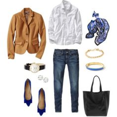 Camel and Royal Blue