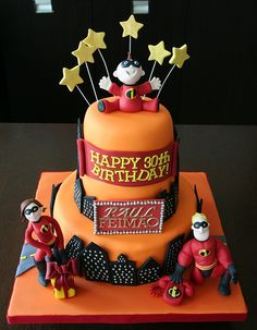 Amazing Pixar Cakes . The Incredibles cake.