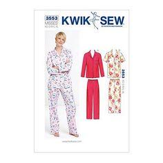 Buy Kwik Sew Women's Pyjamas Sewing Pattern, 3553 Online at johnlewis.com