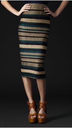 Burberry stripe skirt