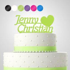 Cake Topper - Tortenfigur 'Yvonne' personalisiert von in due Der Hochzeitsshop auf DaWanda.com