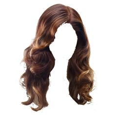 Curly Brunette wig by scarscar93 ❤ liked on Polyvore