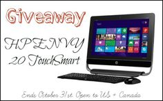 HP Black ENVY TouchSmart All-in-One Desktop PC Giveaway
