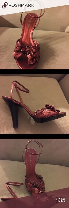 "BCBGirls gorgeous Burgundy hills size 71/2. Great condition 4""hills. Very compatible. BCBGirls Shoes Heels"