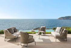 """The Cap Adriano experience"" by Minotti Interior Exterior, Home Interior Design, Villas, Visual Aesthetics, Level Homes, Outdoor Furniture Sets, Outdoor Decor, Mediterranean Style, Large Windows"