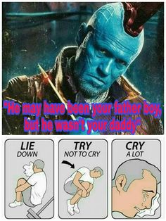 Yondu hit me right in the feels Guardians of the Galaxy Vol. 2