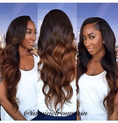 Ombre Hair Extensions Brazilian Remy Hair Body Wave T1B-30