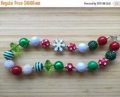 On Sale Christmas Chunky Necklace by CLulusLittleLovelies on Etsy