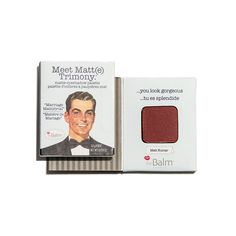 Product: Meet Matt(e) Trimony Eyeshadow in Matt Kumar (matte cranberry shade) by theBalm Cosmetics | ipsy STATUS: Unopened FROM: June 2016 Bag IF INTERESTED, please email me at ashley.campau@gmail.com, as I don't always get notified of comments left on the pins!