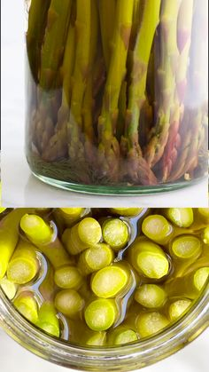Pickled Asparagus - It's time to add delicious Pickled Asparagus to your refrigerators! With this quick and easy and - Best Asparagus Recipe, Spicy Pickled Asparagus Recipe, Pickled Grapes Recipe, Canning Asparagus, Pickled Cucumbers And Onions, Spicy Pickled Eggs, Pickled Green Beans, Canning Vegetables, Pickled Garlic
