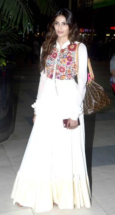 Athiya Shetty spotted at the airport. #Bollywood #Fashion #Style #Beauty