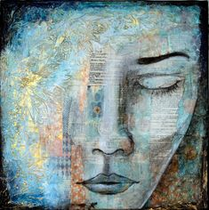 """""""Peace Within"""", 30x30cm, 12""""x12"""", SOLD"""