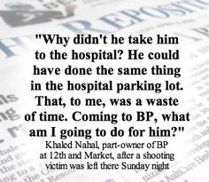BP co-owner talks about a shooting victim being left at his business.