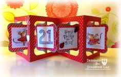 Using Sizzix Accordion Album die. A STAMPING & CHIRPING Corner: Where does the time go