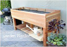 DIY Raised Garden Planter via a LO and behold life