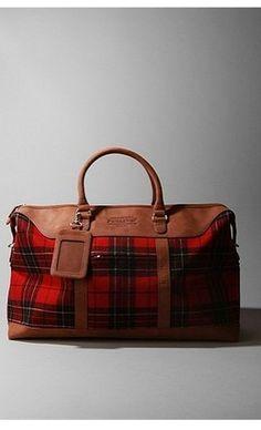 tartan weekender bag :: Man I want this! Scottish Fashion, Tartan Plaid, Looks Cool, Luggage Bags, Just In Case, Purses And Bags, Hermes, Fendi, Vera Bradley