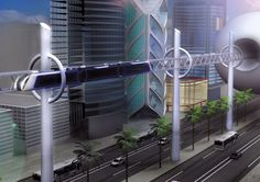 Sustainable monorail concept is powered by renewable energy. It has transparent sides that lets you see the beauty of a futuristic city, in a ride that is also carbon-neutral because of the solar and wind generators.