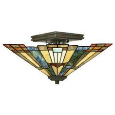 "Quoizel Inglenook Collection 14"" Wide Ceiling Light Fixture - #28417 | LampsPlus.com"