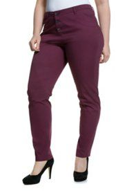 Curvy Stretch Twill Button Fly Closure Pants