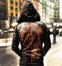 Junker Designs Deluxe Leather Hoodie | Delicious Boutique