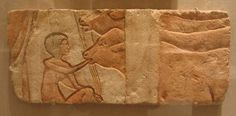Brooklyn Museum: Egyptian, Classical, Ancient Near Eastern Art: Relief, Feeding Calves  Amarna, Egypt Place found: Hermopolis, Egypt Dates: ca. 1352-1336 B.C.E. Dynasty: late XVIII Dynasty Period: New Kingdom, Amarna Period