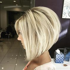 Voluminous stacked bob by Erica Oliver